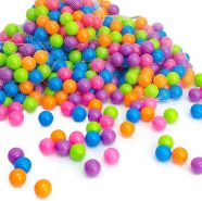 250 bunte Bälle für Bällebad 5,5cm Babybälle Plastikbälle Baby Spielbälle Pastell