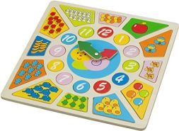 New Classic Toys - 18250 - Puzzle Lernspieluhr