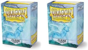 Dragon Shield Matte, Clear Kartenfolien Kartenhüllen Sleeves - für Sammelkarten wie Pokemon Magic - Standardgröße