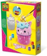 SES Creative Gipsfiguren Einhorn Kitty Cupcake mit Glitzer Bastelset Kreativset Gips gießen Mädchen