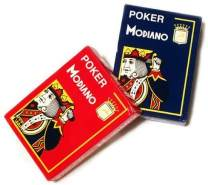 Modiano Spielkarten 482 - Poker Cristallo, 4 Index rot