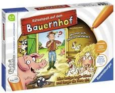 Ravensburger tiptoi Spiel 00830 Rätselspaß auf dem Bauernhof Lernspiel ab 3 Jahren, lehrreiches Wissensspiel für Jungen und Mädchen, für 1-4 Spieler
