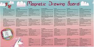 Clementoni 18569 Zaubertafel Einhörner, magnetische Maltafel zum Zeichnen und Malen, lösch- & wiederverwendbar, mit 3 Schablonen, Kreativspielzeug für Kinder ab 4 Jahren