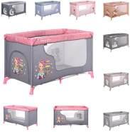 Lorelli Baby Reisebett Laufstall Moonlight seitliche Öffnung Tragetasche faltbar, Farben:pink