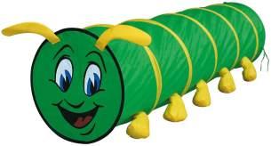 Bino & Mertens 82805 | Spieltunnel grün, 180 cm | Tausendfüssler