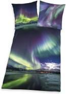 Herding Bettwäsche Polarlichter Digitaldruck 135 x 200cm 100%Baumwolle