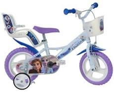 Dino Kinderfahrrad Mädchenfahrrad Frozen II weiß-violett RH 20 cm 12 Zoll