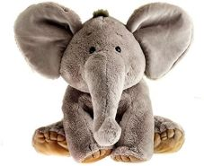 Schaffer 4232 Elefant Sugar, 19 cm, Plüschtier grau, Kuschelelefant