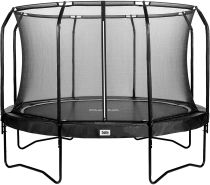 Salta 'Premium Black Edition' Trampolin, schwarz, rund, 366 cm Durchmesser, ab 5 Jahren, maximal belastbar bis 150 kg, inkl. Sicherheitsnetz