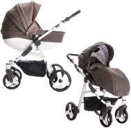 Friedrich Hugo Easy Comfort | 2 in 1 Kombi Kinderwagen | Farbe: Taupe & Leatherette