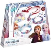 Disney Frozen II Schwesternschmuck Bastel-Set: Bastle Deine eigenen Prinzessinnen-Armbänder mit schönen Perlen, Anhängern und Aufklebern von Anna und Elsa