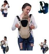 Babytrage Kinetic, Bauchtrage Rückentrage ab Geburt (Beige)