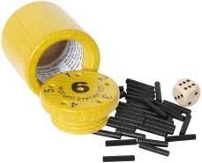 Bartl 108865 Spannendes Würfelspiel aus Holz Warum Immer ich?, klein, gelb - ideal zum Mitnehmen
