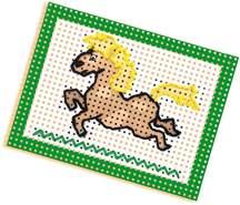 SES Creative 0643321 lerne Sticken Kinder-Bastelkit, Mehrfarbig