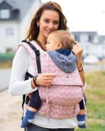 LIMAS Flex Babytrage Fullbuckle | 56 – 104 cm | Bauchtrage & Rückentrage & Onbuhimo | ab 2. -3. Monate bis 3+ Jahre | Baby Carrier | Sunshine
