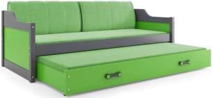 Interbeds 'David' Funktionsbett grau/grün 90x200cm