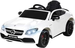 Kinder Elektrofahrzeug Mercedes C63 Kinderauto Elektro Kinderfahrzeug Spielzeug (Weiß)