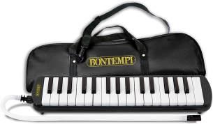Bontempi 33 3250 Blasharmonika aus Kunststoff, Schwarz/Weiß