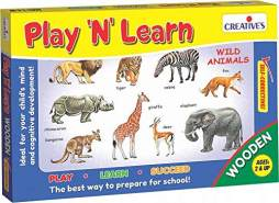 Creative Educational 843,3 cm Play N Learn Holz Wild Animals Spiel