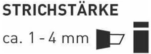 Kreul 16468 - Glass und Porcelain Pen brillant calligraphy, deckender Porzellanmalstift auf Wasserbasis mit formstabiler Spitze, Strichstärke ca. 1 - 4 mm, brillante und lichtbeständige Farbe, weiß