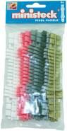 Ministeck 31665 - Farbstreifen-Set, 9 Farbstreifen (31613 - 31618)