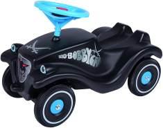 BIG-Bobby-Car Classic Sansibar - Kinderfahrzeug mit Aufklebern für Jungen und Mädchen, belastbar bis zu 50 kg, Rutschfahrzeug für Kinder ab 1 Jahr, schwarz