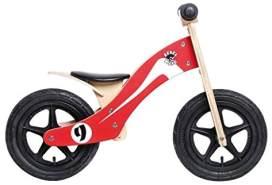 Rebel Kidz Unisex Jugend Wood Air Lernlaufrad, Rot/Weiß, One Size