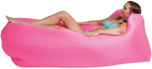 Happy People Unisex – Erwachsene Lounger to Go 2.0 Luftmatratze, pink, One Size