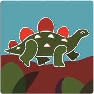 DJECO Dinosaurier-Schablonen, mehrfarbig