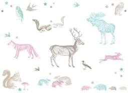 anna wand 'Forest Animals' Wandsticker / 2 DIN A3 Bögen