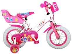 Kubbinga bv Disney Princess Kinderfahrrad, 12 Zoll Kinder Fahrrad Pzinzessinen Mädchen Rad