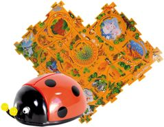 Puzzle Pilot Käfer Puzzle-Set 16 teilig mit Fahrzeug Amewi 100533