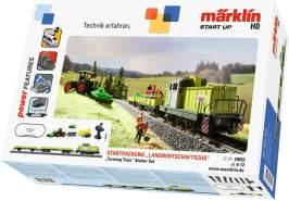 Märklin Modelleisenbahn Start up 29652 - Startpackung 'Landwirtschaftszug'. 230 Volt. Spur H0 Startset. Lokomotive und Wagen