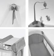 Lorelli 'Sleep ´n Dream' Reisebett, Hellblau, 2 Ebenen, Baldachin, Mobile, faltbar