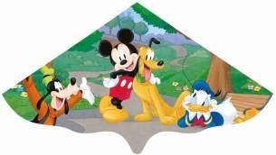 Paul Günther 1109 - Kinderdrachen mit Disney Mickey Mouse Motiv, Einleinerdrachen aus robuster PE-Folie für Kinder ab 4 Jahre mit Wickelgriff und Schnur, ca. 115 x 63 cm groß