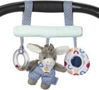 Sterntaler Spielzeug zum Aufhängen mit Klettverschluss, Esel Emmi, Inklusive Rassel, Alter: Für Babys ab der Geburt, Mehrfarbig