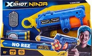 Zuru 36321 x X-Shot Ninja No Rez Blaster, mit 8 Darts und Erkennungsmarke