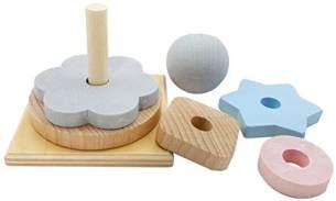 Hess 14954 - Holzspielzeug, Stapelturm aus Holz, nature