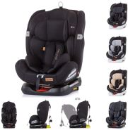 Chipolino, Kindersitz Journey, Gruppe 0+/1/2/3 (0 - 36 kg), Isofix, Top Tether schwarz