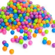 100 bunte Bälle für Bällebad 5,5cm Babybälle Plastikbälle Baby Spielbälle Pastell