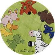 Kinderteppich 'Die Lieben Sieben' Ø130cm
