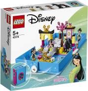 LEGO Disney Prinzessin 43174 Mulans Märchenbuch Abenteuer Tragbares Spielset