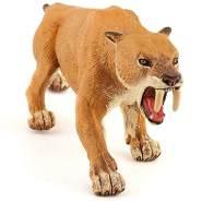 Papo Modell-Tierspielzeugzum Sammeln –Smilodon-Säbelzahntiger–Prähistorische Figur