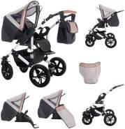 Bebebi myVARIO | 3 in 1 Kombi Kinderwagen Komplettset | Hartgummireifen | Farbe: myHoney