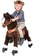 """Ponycycle """"Mister Ed"""" Pferd Braun medium Schaukelpferd auf Rollen mit Sound (U-Serie Modell 2021)"""