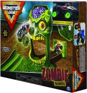 Monster Jam 6053298 - Original Monster Jam Zombie Madness Spielset mit exklusivem Zombie Monster Truck, Maßstab 1:64