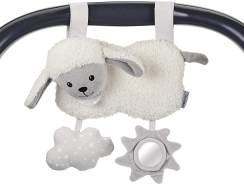 Sterntaler Spielzeug zum Aufhängen mit Klettverschluss, Schaf Stanley, Alter: Für Babys ab der Geburt, Weiß/Grau
