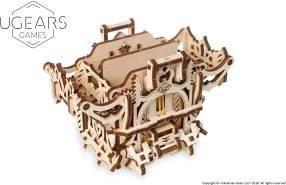 UGEARS 3D Modellbausatz Brettspiele Spielkartenbox -Deck Box - Spielkarten Box Kasten Holzkiste Holzbausatz Würfelspiele Kartenspiele für Erwachsene Modellbau Set Spielezubehör Holz Brettspiel Zubehör