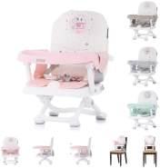 Chipolino Kinderstuhl Lollipop Sitzerhöhung Boostersitz Tisch abnehmbar klappbar pink