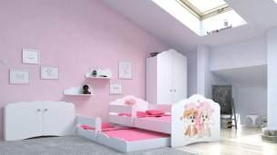 Angelbeds 'Fala' Kinderbett 80x160 cm, Motiv 8, inkl. Flex-Lattenrost, Schaummatratze und Schubbett